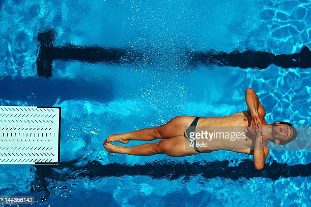Ethan Miller of Australia dives during the Mens 3m Springboard Final at the Fort Lauderdale Aquatic Center on Day 4 of the ATT USA Diving Grand Prix...
