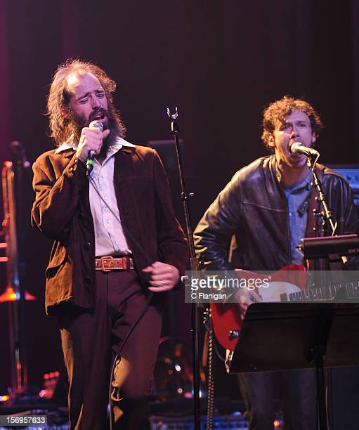 Ethan Miller of Howlin Rain and Scott Metzger perform at The Last Waltz Tribute Concert at The Warfield Theater on November 24 2012 in San Francisco...