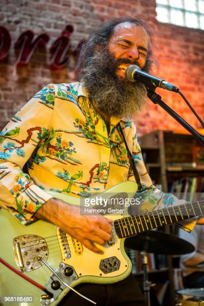 Ethan Miller of the band Howlin Rain performs at Fingerprints on June 5, 2018 in Long Beach, California.
