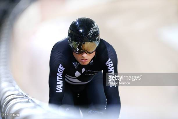 Ethan Mitchell of New Zealand competes in the Men's Elite Sprint during the New Zealand Oceania Track Championships on November 22 2017 in Cambridge...