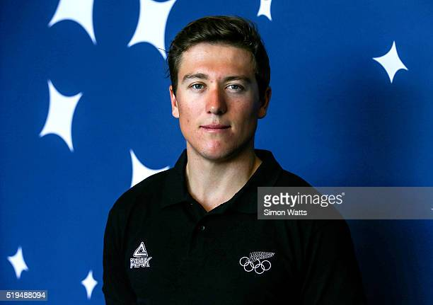 Ethan Mitchell of the Men's Sprint Team during the New Zealand Olympic Team Track Cycling Sprint Team Announcement at The Avantidrome on April 7 2016...
