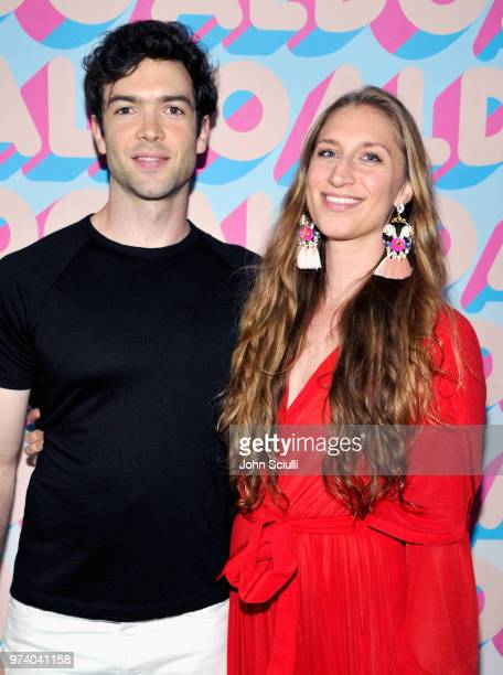 Ethan Peck and Molly DeWolf Swenson attend the Aldo LA Nights 2018 at The Rose Room on June 13 2018 in Venice California