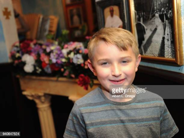 Ethan Perkins celebrates Connor Shane's Birthday held at Buca Di Beppo at Universal CityWalk on March 31 2018 in Universal City California