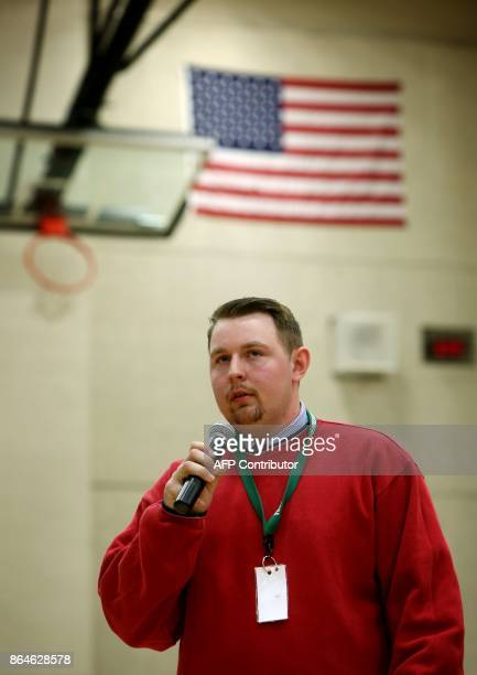 Ethan Randleas of Wichita Kansas speaks during a forum with the four teenage candidates for Kansas Governor at Free State High School in Lawrence...