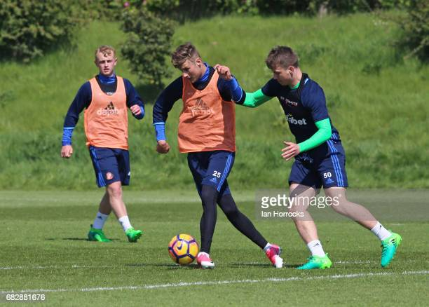 Ethan Robson during a U23 training session at The Academy of Light on May 11 2017 in Sunderland England