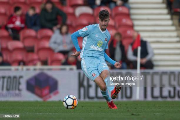 Ethan Robson of Sunderland clears the ball during the Turkish Super lig match between Sivasspor v Besiktas at the Yeni Sivas 4 Eylil Stadium on...