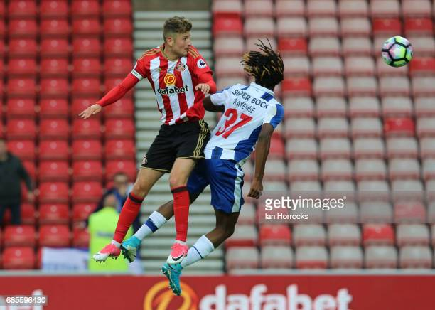 Ethan Robson of Sunderland goes up for a header during the Premier League International cup Final match between Sunderland and Porto at Stadium of...