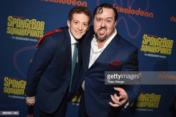Ethan Slater and Brian Ray Norris attend opening night of Nickelodeon's SpongeBob SquarePants The Broadway Musical after party at Ziegfeld Ballroom...