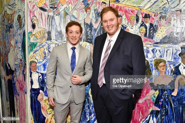 Ethan Slater and Danny Skinner attend the 2018 Outer Critics Circle Theatre Awards at Sardi's on May 24 2018 in New York City