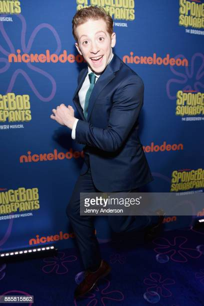 Ethan Slater attends opening night of Nickelodeon's SpongeBob SquarePants The Broadway Musical after party at Ziegfeld Ballroom on December 4 2017 in...