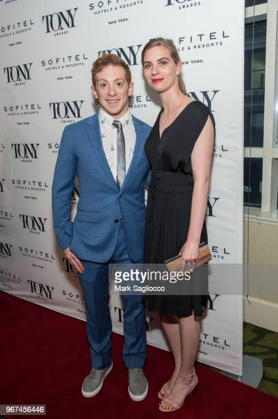 Ethan Slater attends the 2018 Tony Honors For Excellence In The Theatre and 2018 Special Award Recipients Cocktail Party at the Sofitel Hotel on June...
