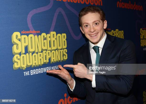 Ethan Slater attends the opening night of Nickelodeon's SpongeBob SquarePants The Broadway Musical after party at Ziegfeld Ballroom on December 4...