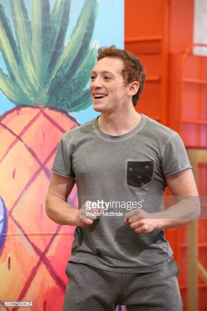 Ethan Slater during the press preview rehearsal of the new broadway musical on 'SpongeBob SquarePants' on October 11 2017 at the Duke 42nd Street...