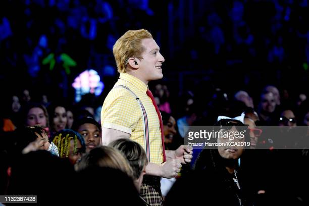 Ethan Slater performs at Nickelodeon's 2019 Kids' Choice Awards at Galen Center on March 23 2019 in Los Angeles California