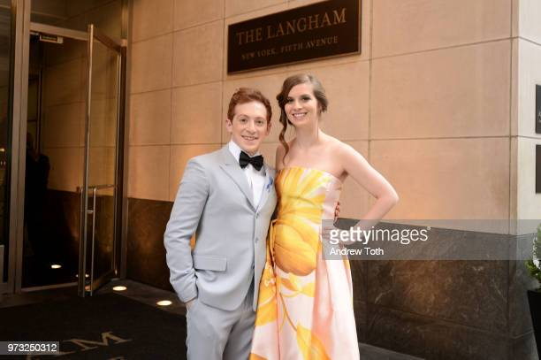 Ethan Slater poses for a photo as the 2018 TONY award nominees prep at Langham Hotel on June 10 2018 in New York City