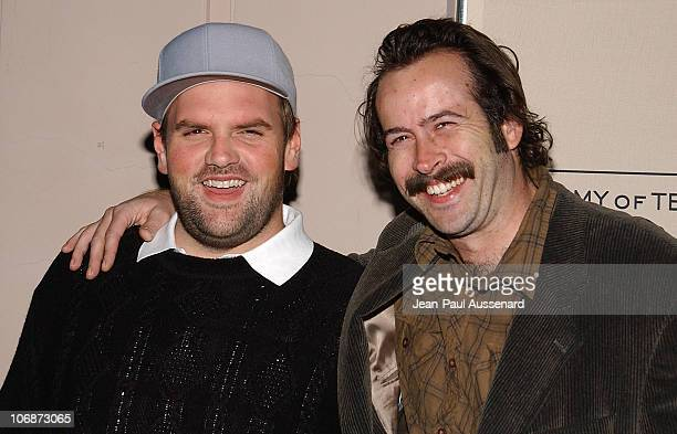 Ethan Suplee and Jason Lee during An Evening with My Name is Earl Presented by Academy of Television Arts Sciences Arrivals at Leonard H Goldenson...