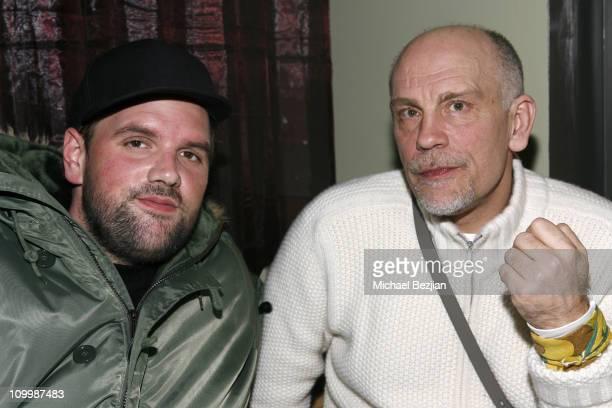 Ethan Suplee and John Malkovich at the Heineken Green Room