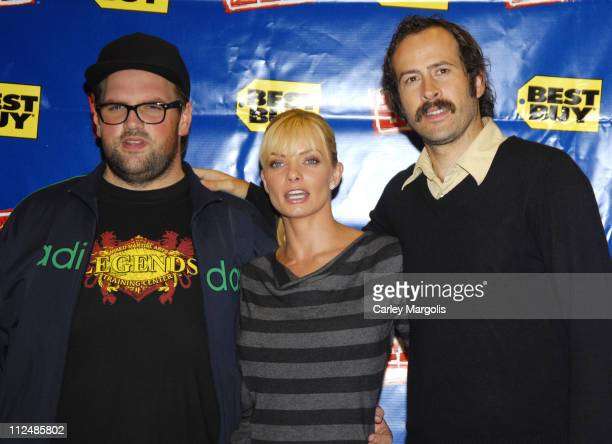 Ethan Suplee Jaime Pressly and Jason Lee during My Name is Earl Cast In Store Appearance at Best Buy September 19 2006 at Best Buy in New York City...