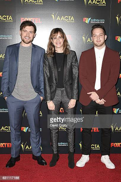 Ethan Thompson Samantha Ronson and Pete Nappi attend the 6th AACTA International Awards Arrivals at Avalon Hollywood on January 6 2017 in Los Angeles...