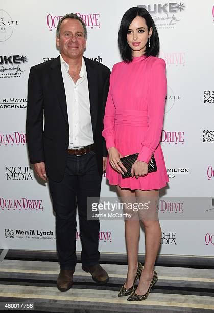 Ethan Wayne and Krysten Ritter attend Ocean Drive Magazine December Cover Model Krysten Ritter Launch at W South Beach on December 5 2014 in Miami...