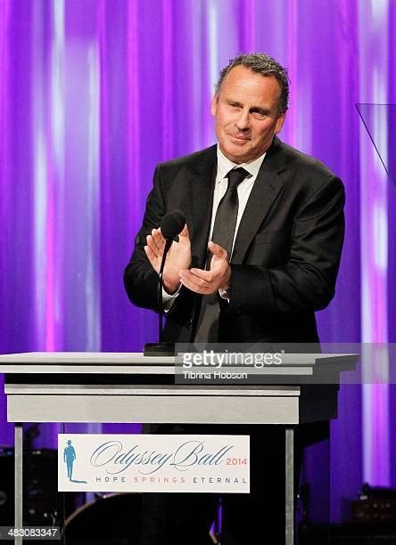 Ethan Wayne honors his father John Wayne at the John Wayne Cancer Institute Auxiliary 29th annual Odyssey Ball show at Regent Beverly Wilshire Hotel...