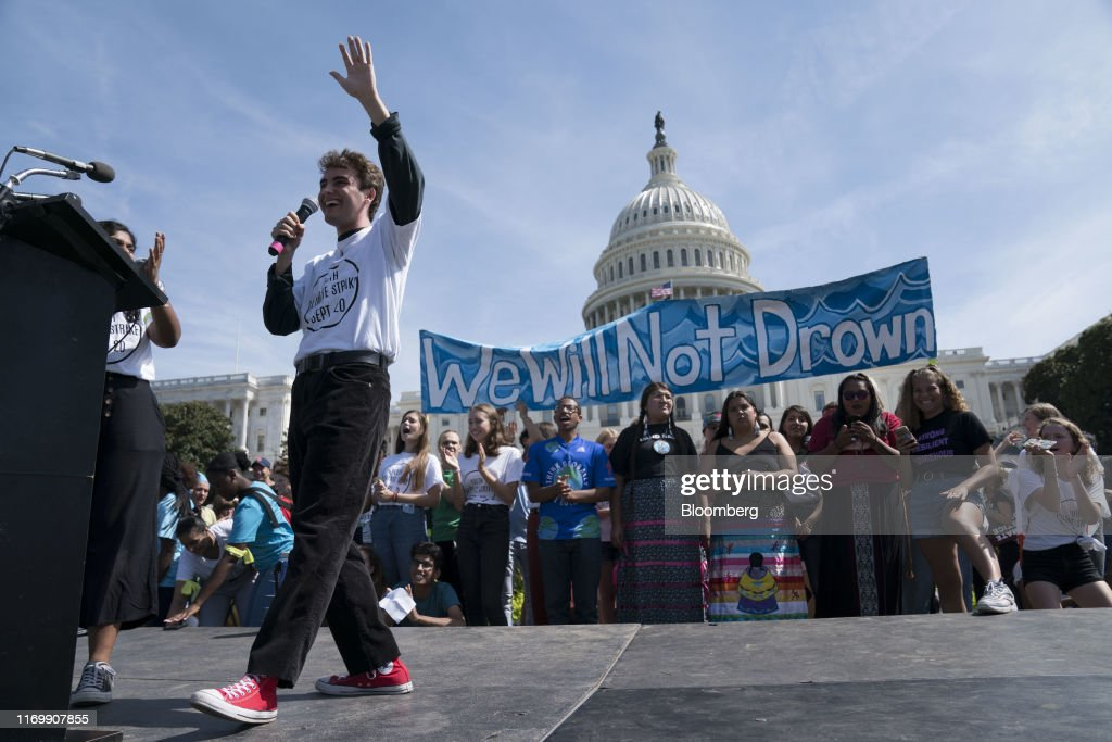 Demonstrators Participate In DC Climate Strike : News Photo