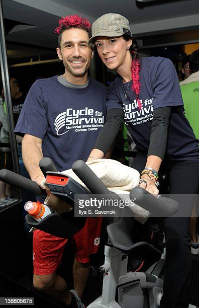 Ethan Zahn and Jenna Morasca attend 2012 Cycle For Survival - Day 2 at Equinox Graybar on February 12, 2012 in New York City.