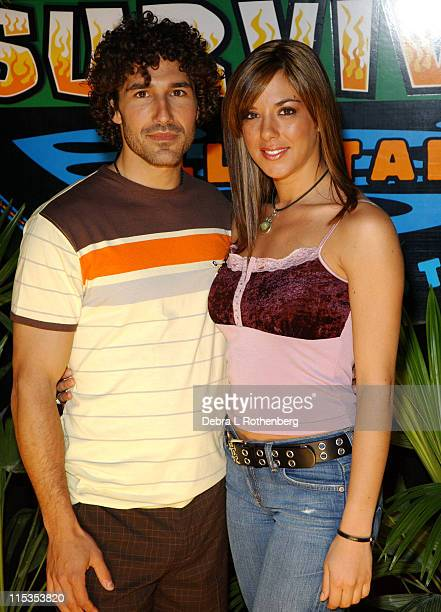 Ethan Zohn and Jenna Lewis during Survivor All Stars The Final Episode at Madison Square Garden in New York City New York United States