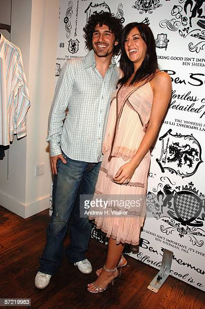 Ethan Zohn and Jenna Morasca attend the launch of Ben Sherman's first official US Flagship Store on March 30 2006 in New York City
