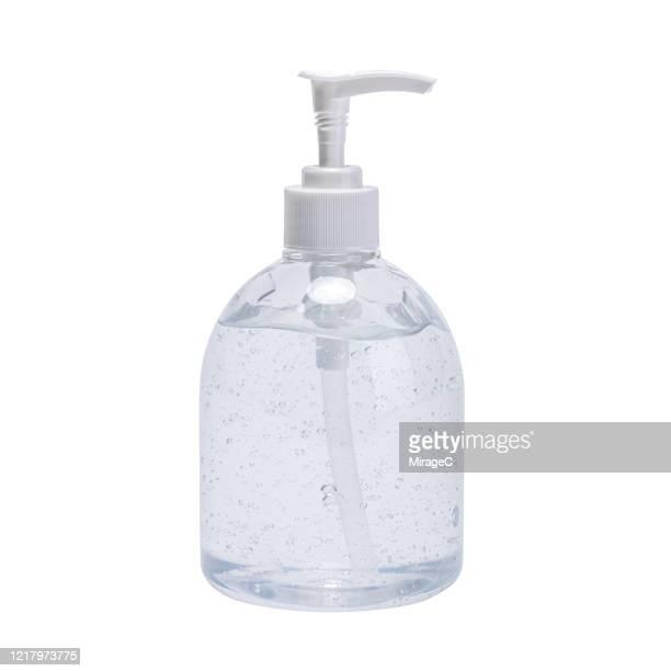 ethanol alcohol gel hand sanitizer on white - 消毒用アルコール ストックフォトと画像