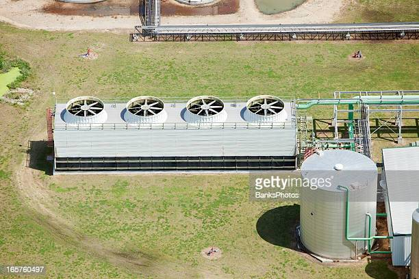 ethanol biorefinery cooling tower system - cooling tower stock pictures, royalty-free photos & images