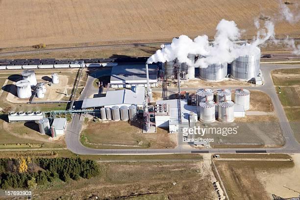 Ethanol Biorefinery Fall Aerial View