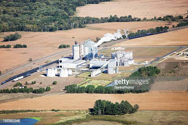 Ethanol Biorefinery Fall Aerial with Farmland