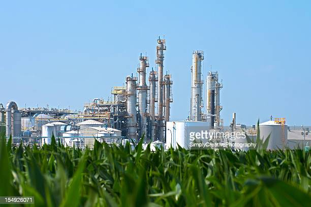Ethanol Plant by Corn Field