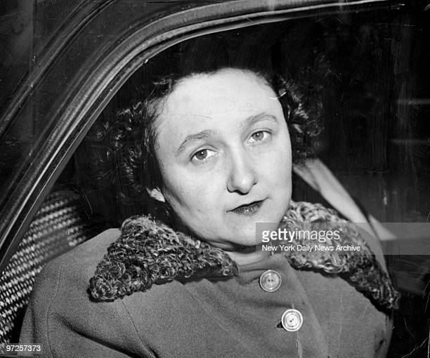 Ethel Greenglass Rosenberg in US marshal's car after being convicted of stealing atomic secrets for RussiaThe judge called the crime worse than murder