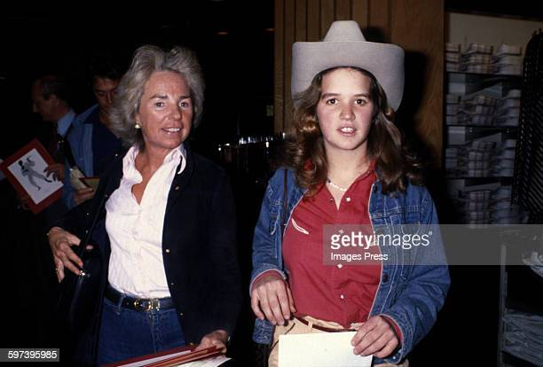 Ethel Kennedy and daughter Kerry Kennedy circa 1979 in New York City