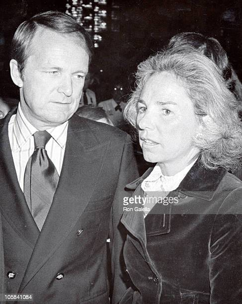 """Ethel Kennedy and George Stevens Junior during """"All the President's Men"""" 1976 Premiere in Washington, D.C. In Washington, D.C., United States."""