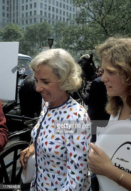 Ethel Kennedy and Kerry Kennedy during 8th Annual RFK Pro Celebrity Tennis Tournament Promotion August 14 1979 at Plaza Hotel in New York City New...