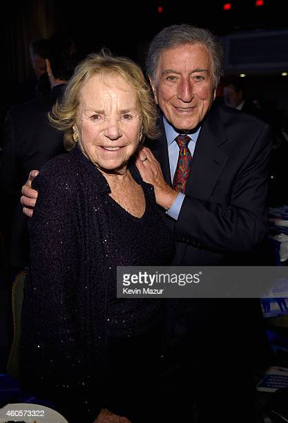 Ethel Kennedy and Tony Bennett attend the RFK Ripple Of Hope Gala at Hilton Hotel Midtown on December 16 2014 in New York City