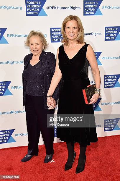 Ethel Kennedy and writer Kerry Kennedy attend the RFK Ripple Of Hope Gala at Hilton Hotel Midtown on December 16 2014 in New York City