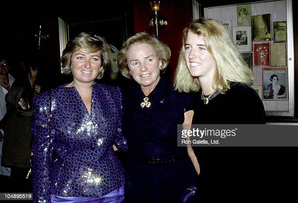 Ethel Kennedy Courtney Kennedy and Kerry Kennedy during Old Gringo Premiere After Party at Ziegfeld Theater/Plaza Hotel in New York City NY United...