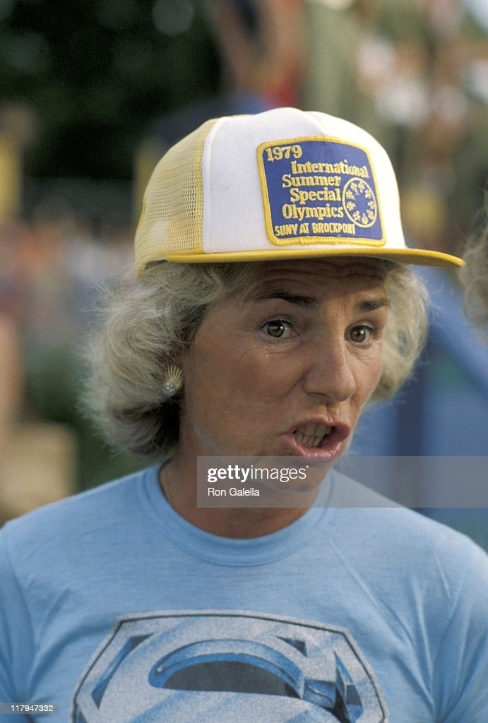 Ethel Kennedy during 1979 Special Olympics at SUNY Brockport Campus in Brockport, New York, United States.