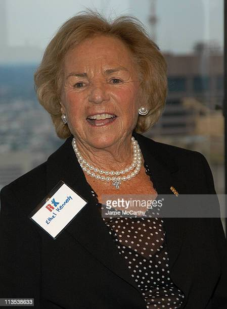 Ethel Kennedy during The Robert F Kennedy Memorial Benefit Reception at The Boston College Club in Boston Massachusetts United States