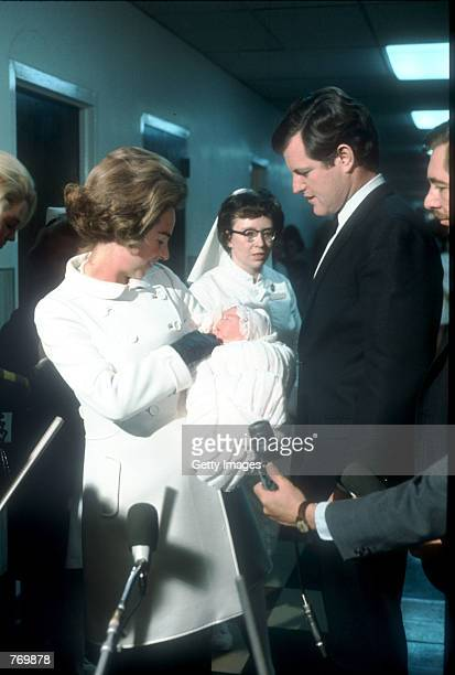 Ethel Kennedy holds newborn Rory as Edward Kennedy looks on December 12 1968 in Washington DC Rory's father was the late Robert F Kennedy who was...