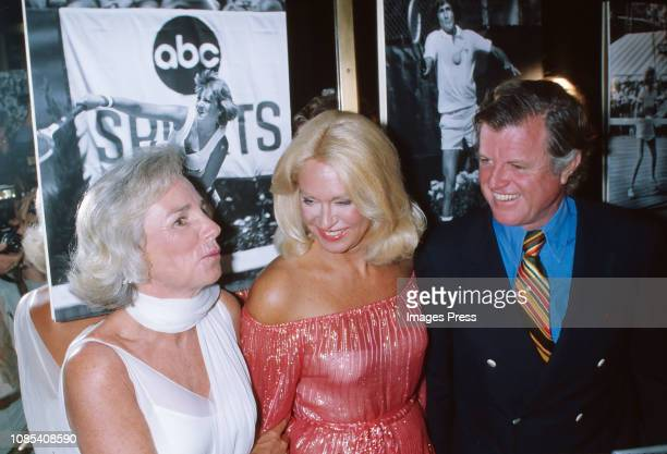 Ethel Kennedy Senator Ted Kennedy and wife Joan Bennett Kennedy attends the reception for the annual Robert F Kennedy ProCelebrity Tennis Tournament...