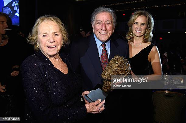 Ethel Kennedy Tony Bennett and Kerry Kennedy attend the RFK Ripple Of Hope Gala at Hilton Hotel Midtown on December 16 2014 in New York City