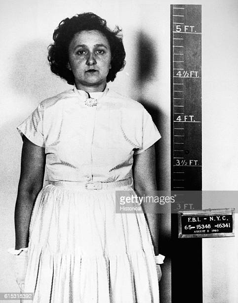 Ethel Rosenberg after her arrest on charges of espionage August 11 1950 She was executed on June 19 1953