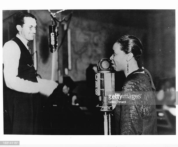 Ethel Waters with Tommy Dorsey appearing on CBS radio series 'The American Review' USA 1933
