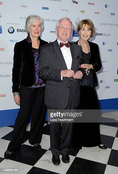 EthelMichelle de Villiers Harald zur Hausen and Christa Maar attend the Felix Burda Award Gala 2012 at Hotel Adlon on April 22 2012 in Berlin Germany