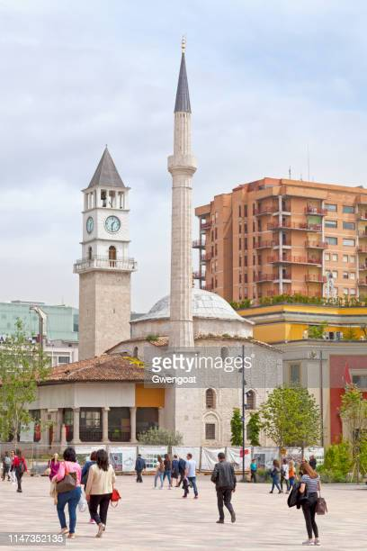 Et'hem Bey Mosque and the Clock Tower of Tirana